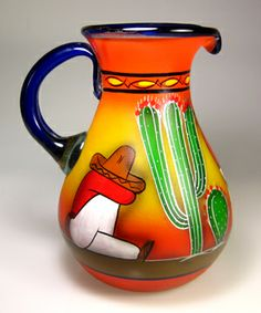 Mexican Dinnerware Sets Agave Cutter Drinking Gles W Matching Pitcher Rack