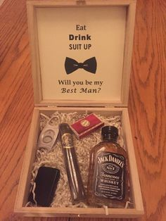 Best Man/Groomsman gift box