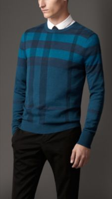 Burberry Check Wool Silk Sweater