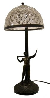 Art Deco table lamp with tennis player Bronze, Austria, 1920