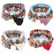 US $1.63     Buy Jewelry At Wholesale Prices!     FREE Shipping Worldwide     Buy one here---> http://jewelry-steals.com/products/wooden-beads-bracelets-for-women-bohemia-elephant-tassel-charm-bracelets-bangles-set-boho-vintage-jewelry-femme/    #earrings