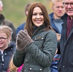 Passionate about the environment: The Princess appeared to be in a great mood throughout the day