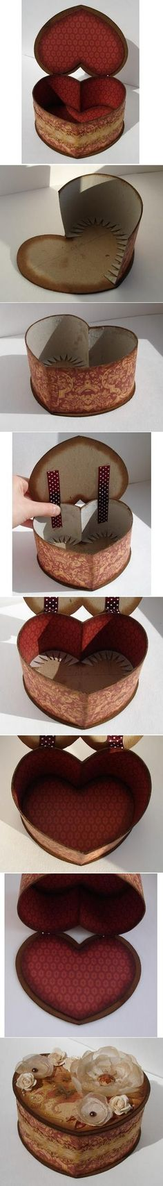 DIY Cardboard Heart Shaped Box