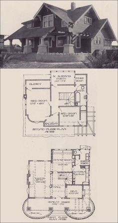 1912 Craftsman Bungalow - Los Angeles Investment Company - California - Designed by Ernest McConnell house vintage Bungalow Homes, Bungalow House Plans, Craftsman Style Homes, Craftsman Bungalows, Craftsman House Plans, Cottage Homes, House Floor Plans, Craftsman Kitchen, The Plan