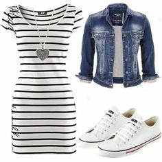 cute outfits for spring ~ cute outfits ; cute outfits for school ; cute outfits with leggings ; cute outfits for winter ; cute outfits for women ; cute outfits for school for highschool ; cute outfits for spring Mode Outfits, Fashion Outfits, Womens Fashion, Fashion 2018, Skirt Outfits, Jean Dress Outfits, Fashion Tips, Sneakers Fashion, Fashion Trends