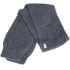 Echarpe gris foncé en laine