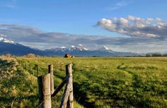 Ranch land and the mountains of Montana #Great Falls #Montana #Greatplaces