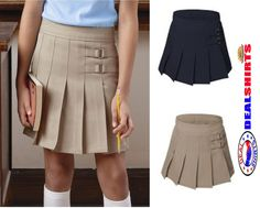 French Toast Girls Pleated Scooter Skort Skirt X9103 School Uniform 4 18 New | eBay