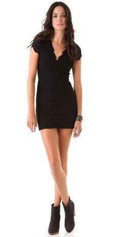 Nightcap Clothing Deep V Cap Sleeve Dress   SHOPBOP