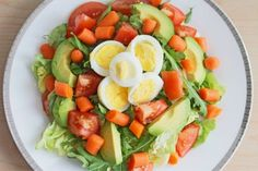 Easy healthy meal: Egg-Avocado-Carrot Salad (from Clean Eating Weight Loss Meal Plan Enjoy! Cheap Easy Healthy Meals, Healthy Dinner Recipes, Clean Eating Recipes, Healthy Eating, Healthy Salads, Healthy Food, Clean Eating Meal Plan, Weight Loss Meal Plan, Fitspo