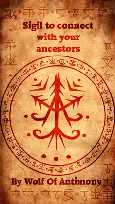 Wolf Of Antimony Occultism: Photo Sigil to connect with your ancestors Druid Symbols, Magic Symbols, The Americans, Magick Spells, Wicca Witchcraft, Tarot, Wolf Images, Power Trip, Practical Magic