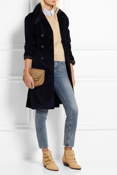 Chloé | Susanna studded textured-leather ankle boots | NET-A-PORTER.COM