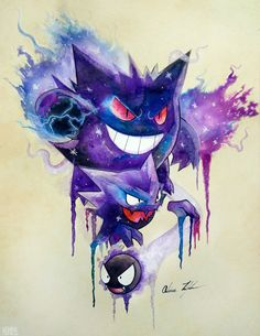 Part 2 of a Pokemon series I'm working on Materials used: -Winsor & Newton inks -Sakura Microperm pen 01 -Faber-Castell white pen Gastly Evolutions Gengar Pokemon, Pokemon Fan Art, Ghost Pokemon, Cool Pokemon, Pokemon Go, Charizard, Pokemon Tattoo, Gengar Tattoo, Pokemon Fantasma