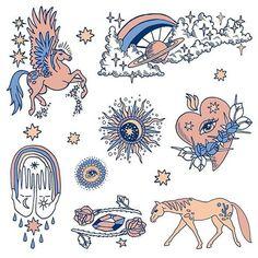 You're bound to get ideas if you go thinkin' about stuff // Steinbeck 💗 Cute Tattoos, Small Tattoos, Tattoo Drawings, Art Drawings, Tarot, Tattoo Flash Art, Hippie Art, Skin Art, New Wall