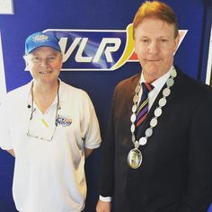 Deputy Mayor John O Leary dropped in for a chat #anpostras #anpostras2016 #Dungarvan #wlrfm