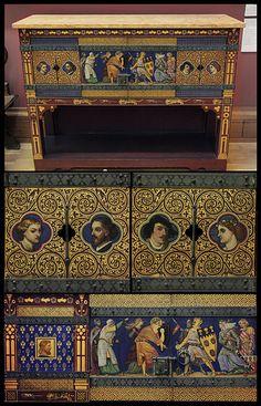 Cabinet - William Burges - collage   Flickr - Photo Sharing!