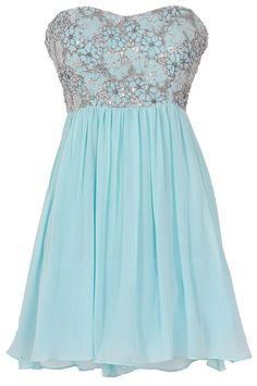 Stars In The Sky Sequin Lace Overlay Designer Dress by Minuet in Mint