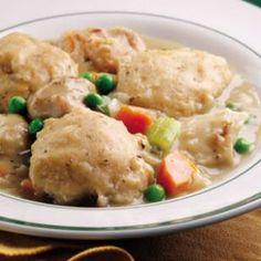 Pressure Cooker Creamy Chicken & Dumplings