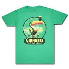 Guinness 'Toucan' Green T Shirt for St. Pattys!