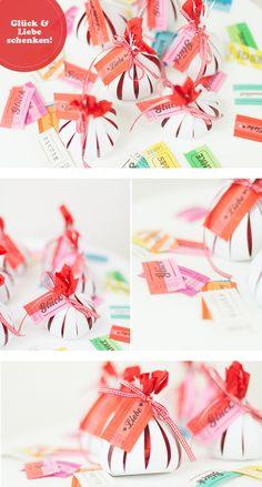DIY Verpackung Gastgeschenke mit Billetterie