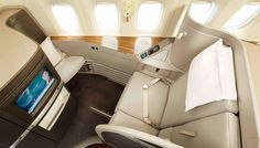 Cathay Pacific first class seats are a better redemption than ever with a new award fare policy from US Airways First Class Airline, Flying First Class, First Class Seats, First Class Flights, Us Airways, Foster Partners, Cathay Pacific, Kabine, Business Class
