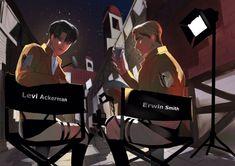 Attack On Titan Funny, Attack On Titan Ships, Attack On Titan Fanart, Levi And Erwin, Levi X Eren, Otaku, Aot Characters, Eruri, Fanarts Anime