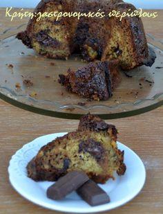 Κέικ μπανάνα-σοκολάτα με ελαιόλαδο - cretangastronomy.gr