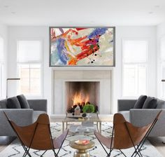• Free shipping on all paintings within the 48 Continental U.S States & Canada. • The coolest abstract art to ever meet your walls!! • 100% hand painted on high grade artist canvas. • Made-to-order in your choice of several sizes. • We only use the finest art materials. All our art is created using Winsor & Newton professional acrylic paints. • Given all our artwork is hand crafted, the painting you receive cannot be identical to the original artwork displayed; As such, there will be...