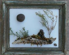 Pebble Art Couple in the outdoors sitting on a by CrawfordBunch
