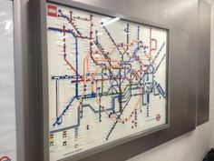 LEGO tube map at King's Cross St. Pancras via The Londonist