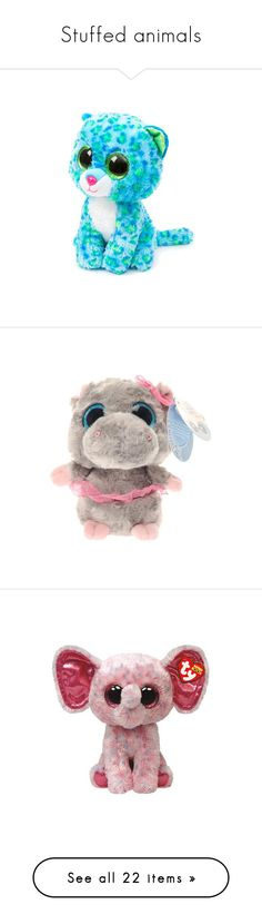 """""""Stuffed animals"""" by lexiesocrazy ❤ liked on Polyvore featuring stuffies, toys, stuffed animals, plushies, random, filler, accessories, plush, fillers - pink and fillers"""