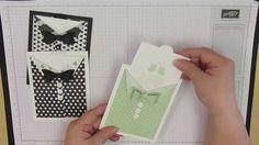cardmaking video tutorial:  Mini Treat Bag Suit & Tie card ... too cute!!