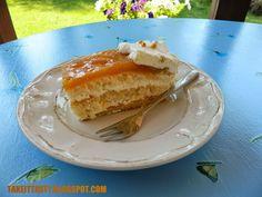 Pyszny biszkopt z musem mirabelkowym :) Tasty sponge cake with mirabelles mousse