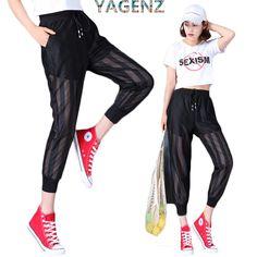 YAGENZ Gauze Harem pants Women s Summer 2017 Fashion High waist Student  Loose Gauze pants Women Casual ed1dcc1598e
