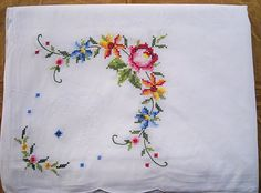 Cross stitch tablecloth