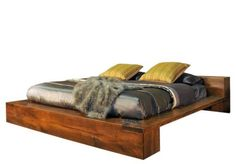 Ruff Sawn Azalea Platform Bed Solid wood luxury in a platform bed made of rough sawn wormy maple wood. Choose stain color to best match your bedroom. #platformbeds #beds Amish Furniture, Solid Wood Furniture, King Beds, Queen Beds, Queen Bed Dimensions, Modern Platform Bed, Wood Beds, Mid Century Modern Furniture, How To Make Bed