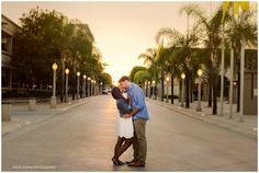 Downtown Fullerton Engagement session at sunset.  #fullerton #downtown #engagement #ocphotographer