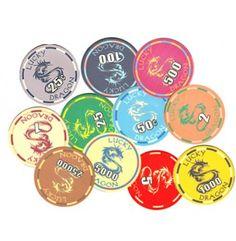 De Lucky Dragon serie keramische pokerchips is zeer breed inzetbaar.   Deze zeer luxe fiches zijn verkrijgbaar vanaf waarde 0,25 maar loopt zelfs door tot waarde 25.000. Zeer geschikt voor cashgames maar ook voor professionele pokertoernooien.