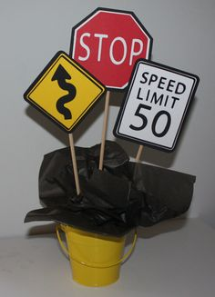 Cars Table Centerpiece by yadyscreations on Etsy