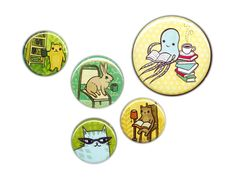 Shop Small! Use coupon code STAYINBED for a discount at the boygirlparty Etsy shop (http://ift.tt/1wlgGoA) expiring 11/30/15: #Animal Art Buttons for Children - Study Buddy - Student Gift Teacher Gift Button Pack -- Source: http://ift.tt/1GDsow0 #shopsmall