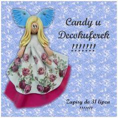 Decokuferek - rękodzieło artystyczne, masa solna, papierowa wiklina, decoupage: Candy u Decokuferek!!!