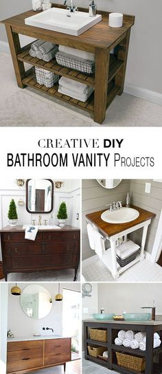 DIY Bathroom Vanity Projects • Learn how to save money and build a bathroom vanity!