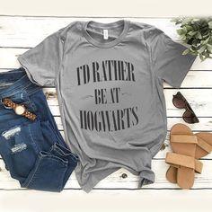 I'd Rather Be At Hogwarts Harry Potter t shirt