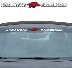 "Arkansas Razorbacks 35""x4"" Windshield Decal"