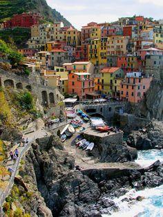 Cinque Terre, Italy - 5 villages along the Italian coastline  Monterosso al Mare, Vernazza, Corniglia, Manarola, and Riomaggiore.