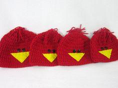 St. Louis Cardinals Baby Cap Red Bird by crochetedbycharlene
