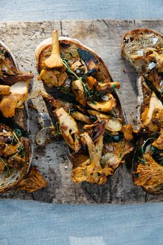 ROASTED WILD MUSHROOM TARTINE [cannellevanille] [project inspiration, image only]