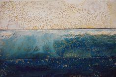 Neap Tide - Encaustic Wax Painting
