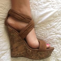 Charolette Russe wedges! SIZE 7 wedgesPerfect pair to match up with your summer wardrobe this upcoming season! I just personally prefer flip flops over heels, so I'm getting rid of some!! This was a go to for all my girlfriends that wanted to borrow a pair of cute wedges! Charlotte Russe Shoes Wedges