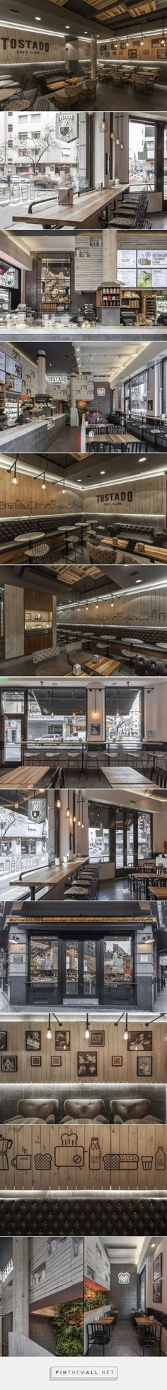 Tostado Cafe Club by Hitzig Militello Arquitectos, Buenos Aires – Argentina Café Bar, Restaurant Concept, Restaurant Bar, Bagdad Cafe, Coffee Restaurants, Cafe Concept, Coffee Store, Cafe Bistro, Coffee Shop Design